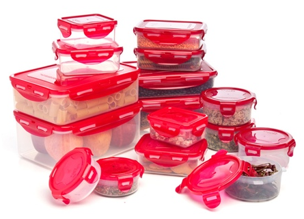 32 Piece Lock and Lock BPA Free Food Storage Containers for 20