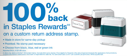 Free Stamp at Staples