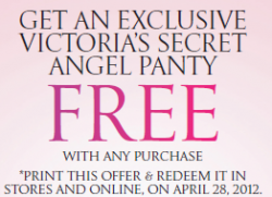 victorias secret free panty with purchase