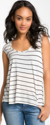 nordstrom half yearly striped tank image