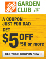 More New Home Depot Coupons From The Garden Club Join For