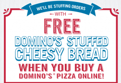 free cheesy bread at dominos