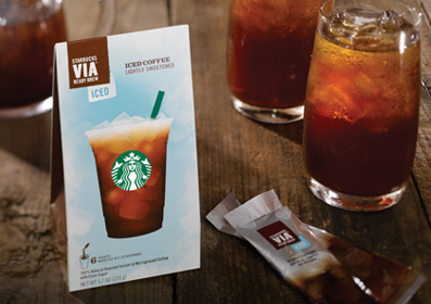 starbucks free drink with via pack image