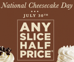 cheesecake factory cheesecake day