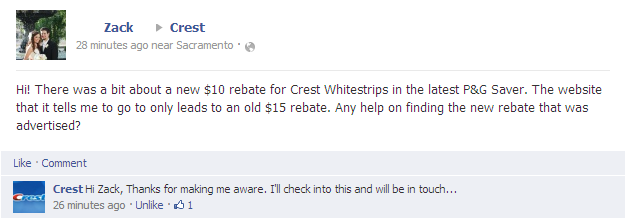 $10 crest whitestrips rebate