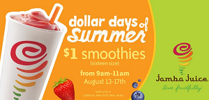 jamba juice dollar days