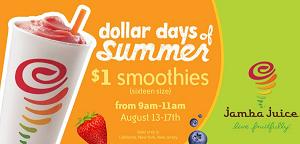 jamba juice dollar days