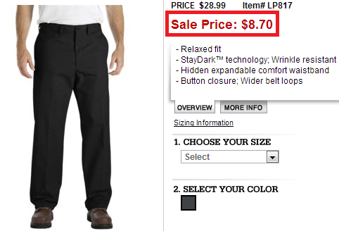 dickies pants sale