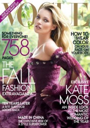 Kate Moss US Vogue Cover 120811