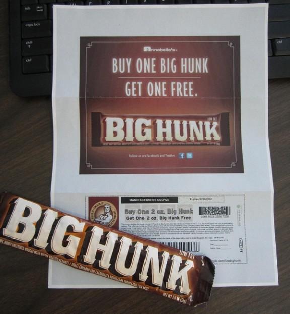 big hunk coupon