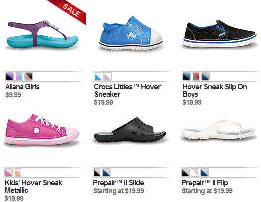 crocs markdown sale