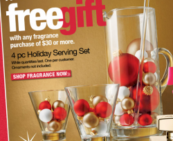 free holiday serving set