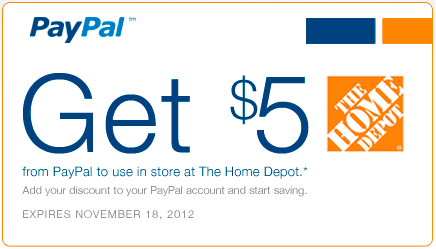 new home depot paypal promo get 5 back when you spend 25