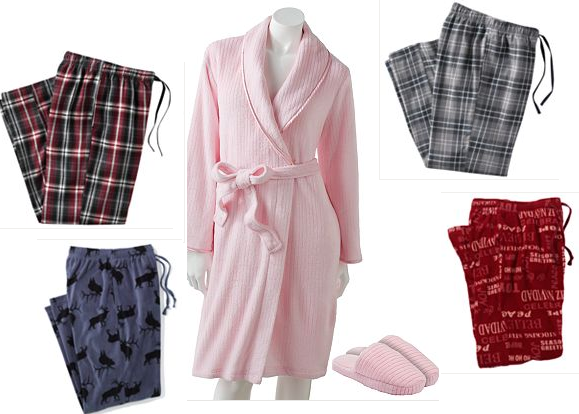 mens pjs and womens robes
