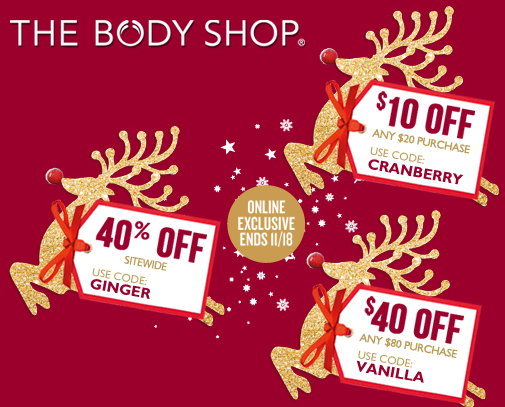 body shop holiday sale