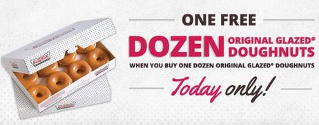 bogo free krispy kreme donuts