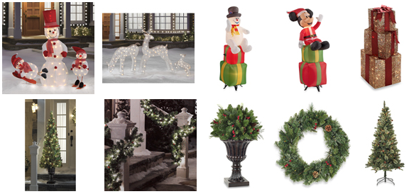 bed bath and beyond christmas decor clearance
