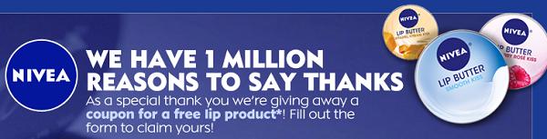 free nivea lip