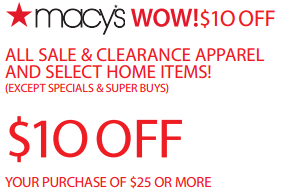 macys 10 off 25 coupon