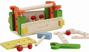 wooden toolbox play set