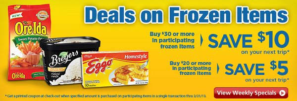 safeway frozen food sale