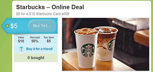 starbucks gift card groupon