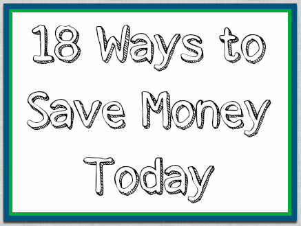 ways to save money today