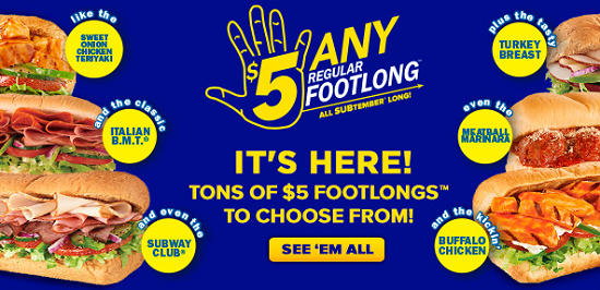 $5 Footlong September 2013
