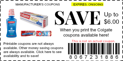 image about Colgate Printable Coupons named Colgate Coupon codes - Brand Discount coupons