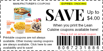 lean cuisine printable coupons