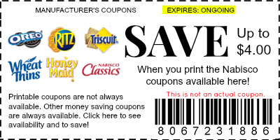 nabisco coupons