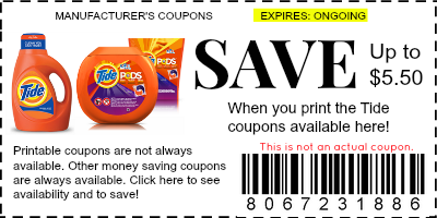 tide coupons 2014