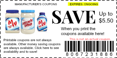 miracle whip coupon
