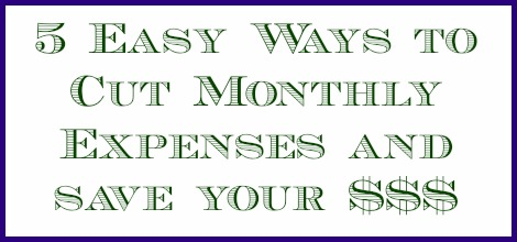 5 ways to cut monthly expenses