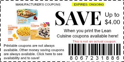 lean cuisine coupons
